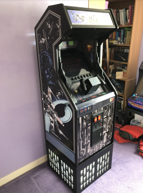 star wars arcade cabinet full length shot