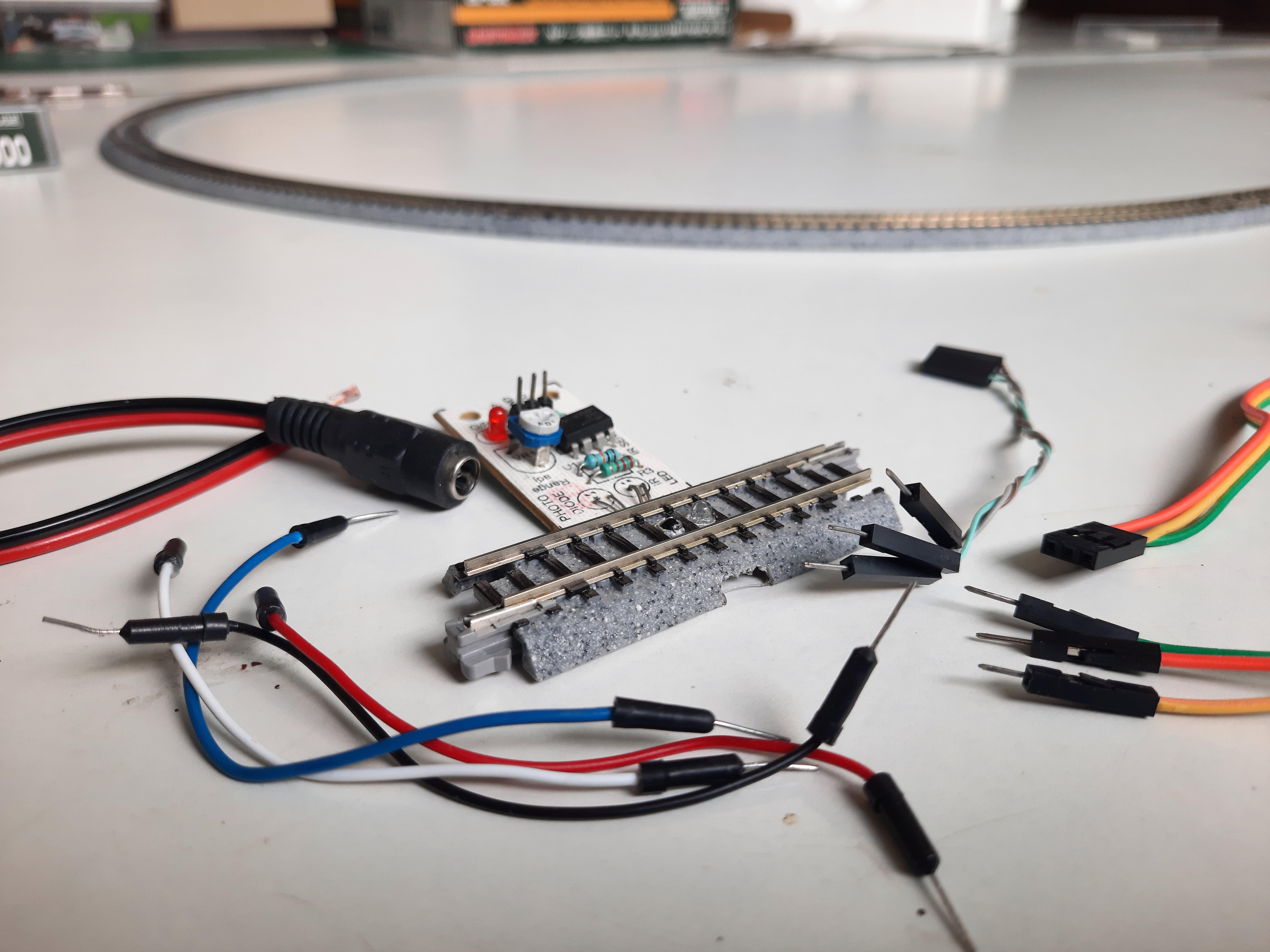 sensored parts of train track