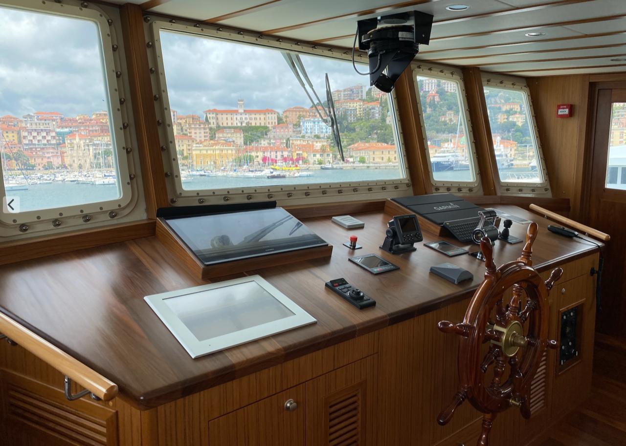 restored boat control room