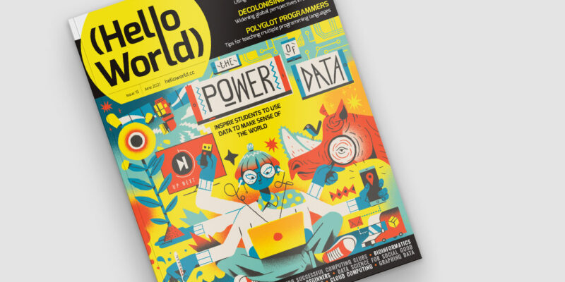 Cover of Hello World magazine issue 16.