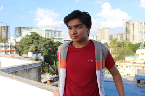 Toshan, an Indian teenager in Bangalore.