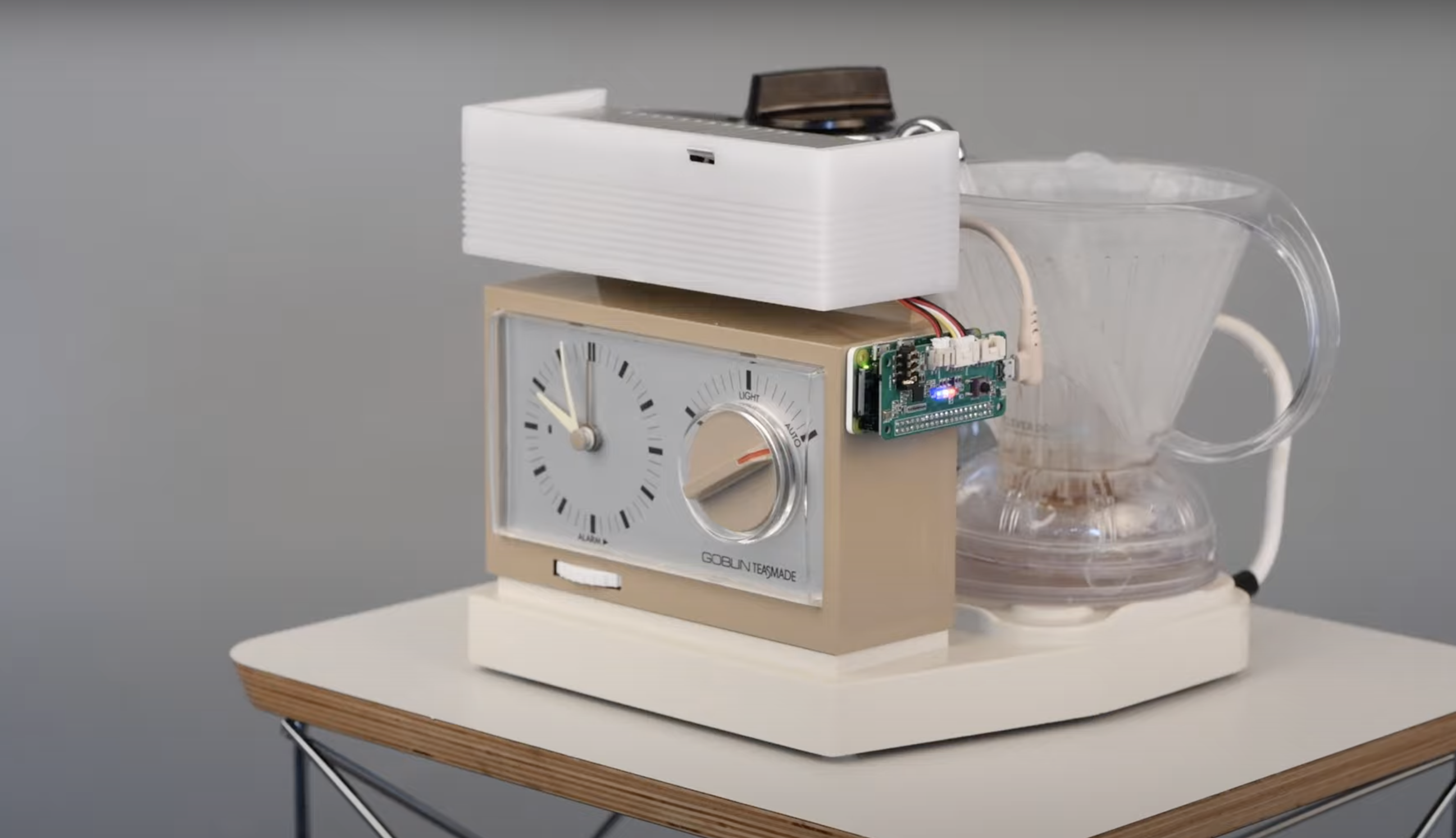 teasmade with raspberry pi attached