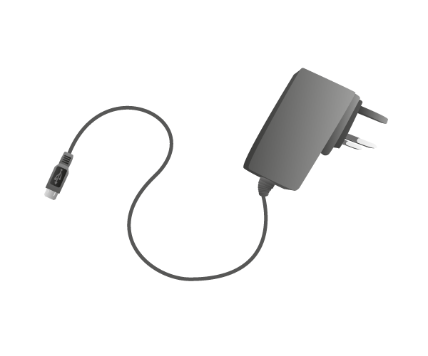 Power supply with cable
